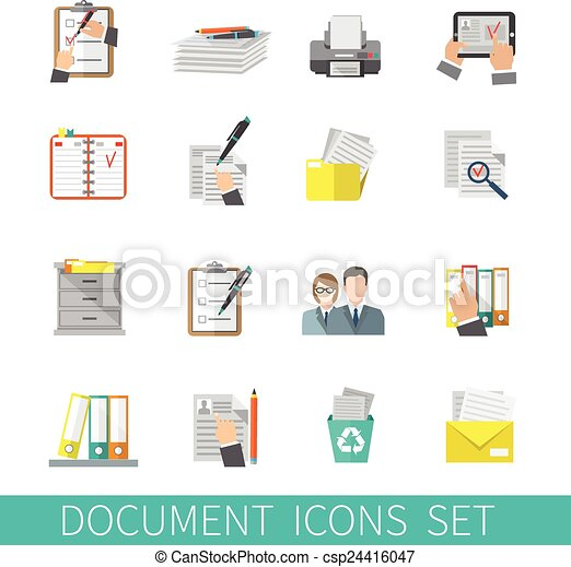 plat, document, pictogram - csp24416047