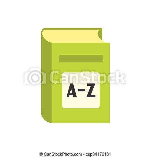 plat, engelse , woordenboek, pictogram - csp34176181