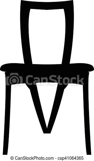 plat, eps, eps10, jpg, vecteur, icône, chaise, sentier, icône - csp41064365