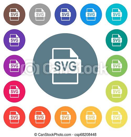 plat, formaat, kleur, svg, iconen, achtergronden, bestand, witte , ronde - csp68208448