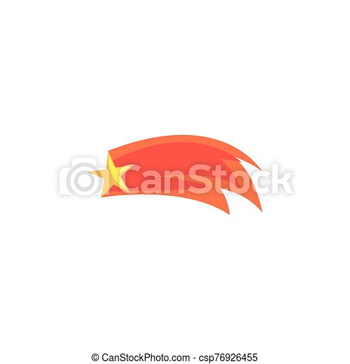 plat, icône, tir, style, étoile, espace - csp76926455