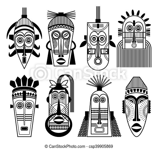 masque africain tribal