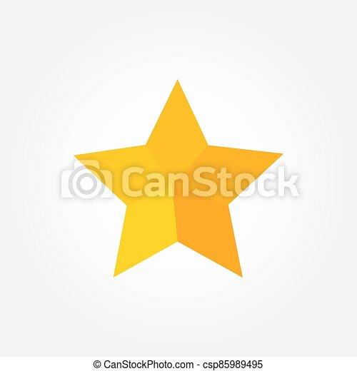 plat, icon., conception, étoile, jaune - csp85989495