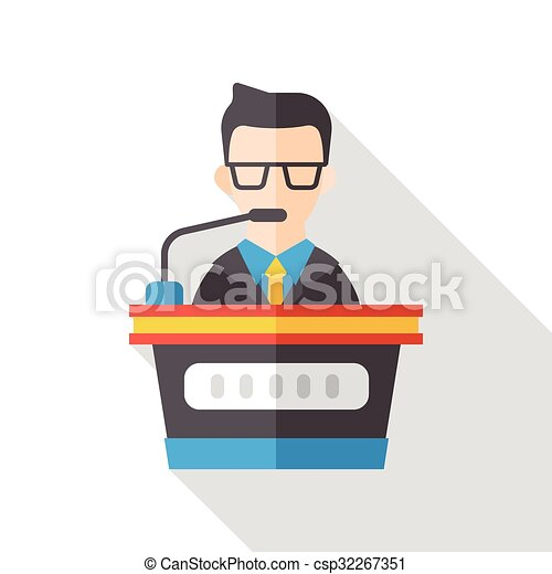plat, karakter, zakelijk, pictogram - csp32267351