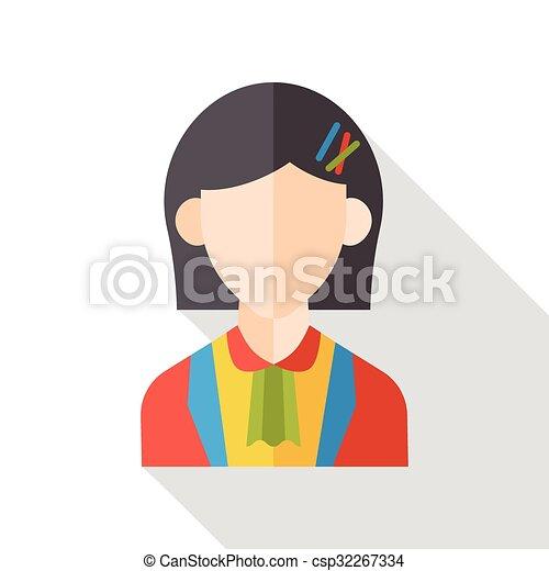 plat, karakter, zakelijk, pictogram - csp32267334