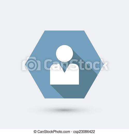 plat, moderne, lang, vector, shadow., pictogram - csp23086422