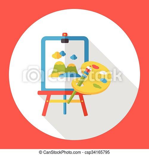 Plat Palette Peinture Icône