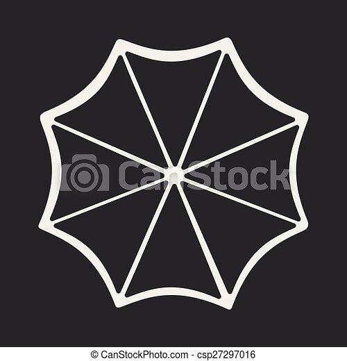 plat, parapluie, mobile, application, onu, noir, blanc - csp27297016