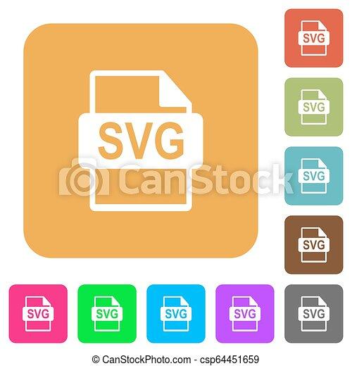 plat, plein, afgerond, iconen, svg, formaat, bestand - csp64451659