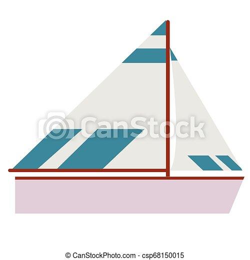 plat, scheepje, illustratie - csp68150015