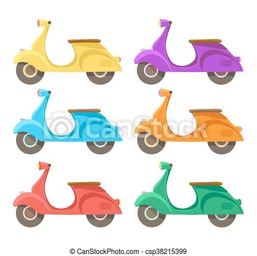 plat, scooter, créatif, vecteur, conception, icon. - csp38215399