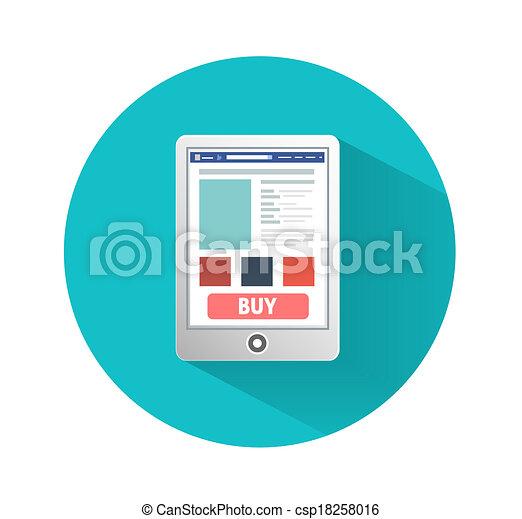 plat, smartphone, concept, conception, business - csp18258016