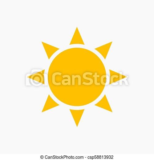 plat, soleil, icône - csp58813932