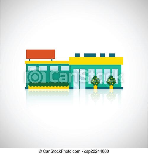 plat, supermarkt, pictogram - csp22244880