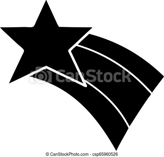 plat, symbole, étoile filante, arc-en-ciel - csp65960526