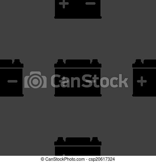 plat toile batterie voiture pattern seamless gris illustration vectorielle. Black Bedroom Furniture Sets. Home Design Ideas