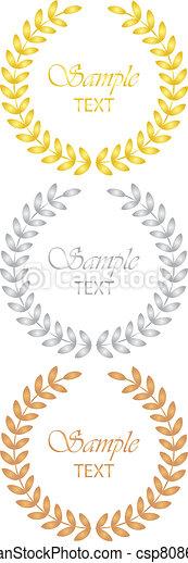 Laureles (oro, plata, bronce) - csp8086977