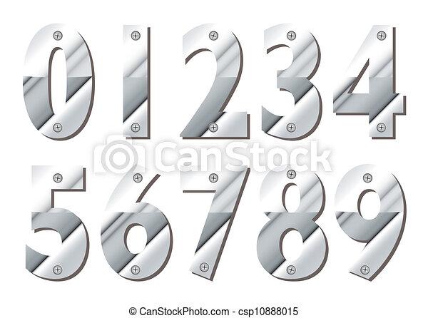 Números de plata - csp10888015