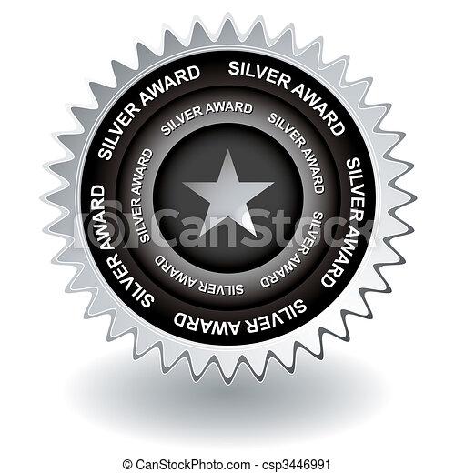 Un icono de premio de plata - csp3446991