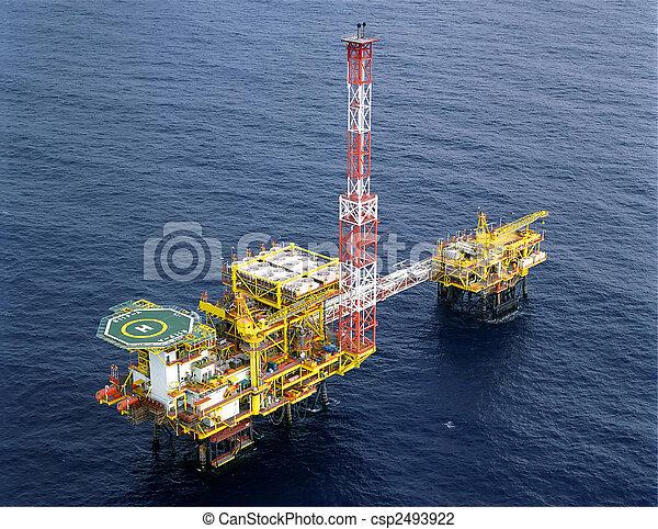 plataforma, aceite, driling - csp2493922