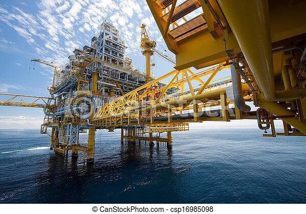 plataforma, aceite, gas, o, costa afuera - csp16985098