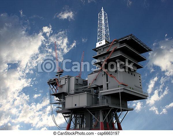 plataforma, aceite - csp6663197