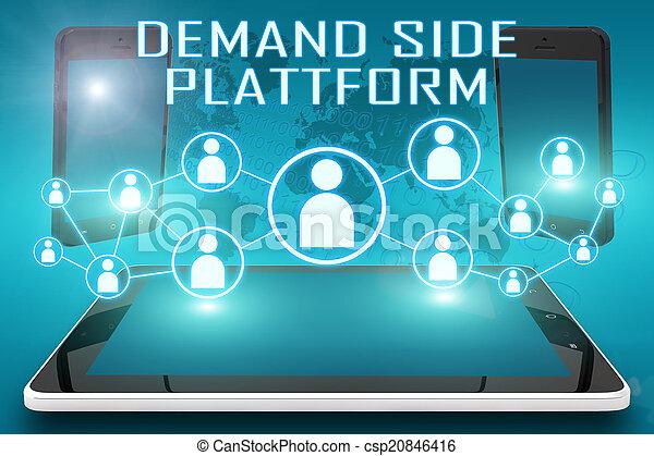 plataforma, lado, demanda - csp20846416