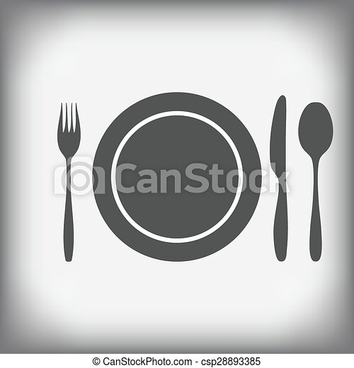 plate, knife, fork, spoon - csp28893385