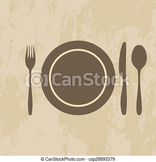 plate, knife, fork, spoon - csp28893379