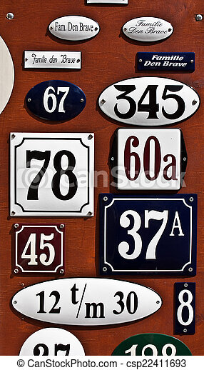 Plate numbers - csp22411693