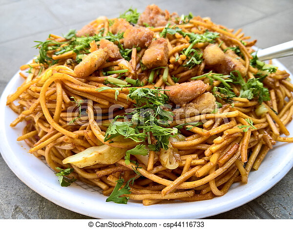 Plate of Chowmein - csp44116733