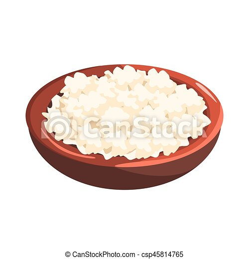 Plate Of Cottage Cheese Food Item Rich In Proteins Important Element The Healthy Balanced Diet