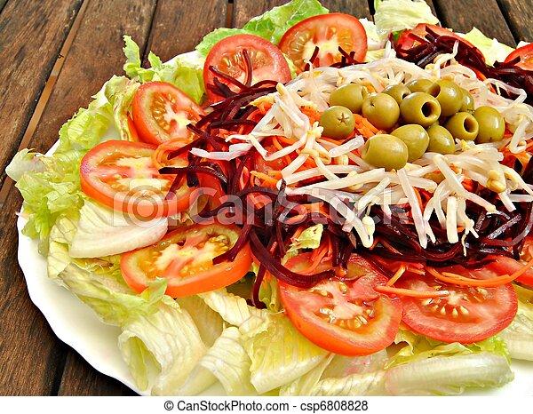 Plate of salad - csp6808828