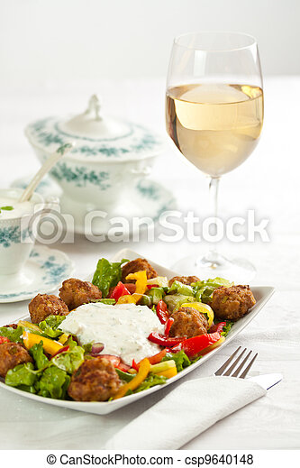 Plate of salad - csp9640148