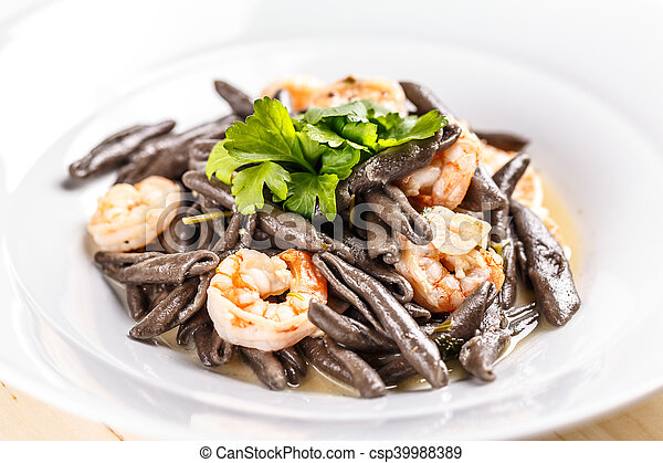 Plate of sea food - csp39988389