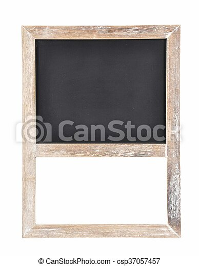 Plate of slate for writing on white - csp37057457