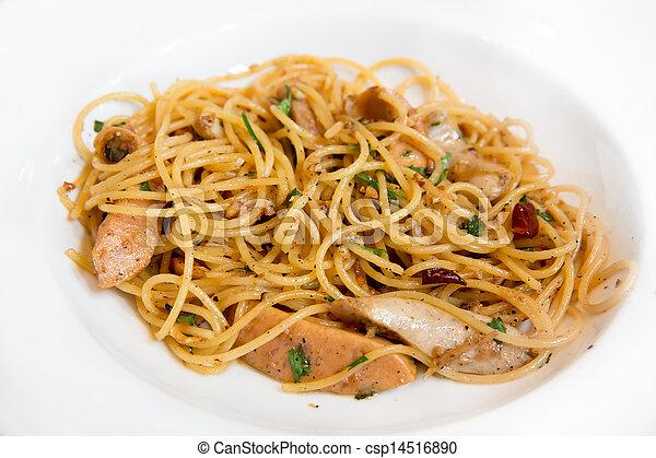Plate of Spaghetti - csp14516890