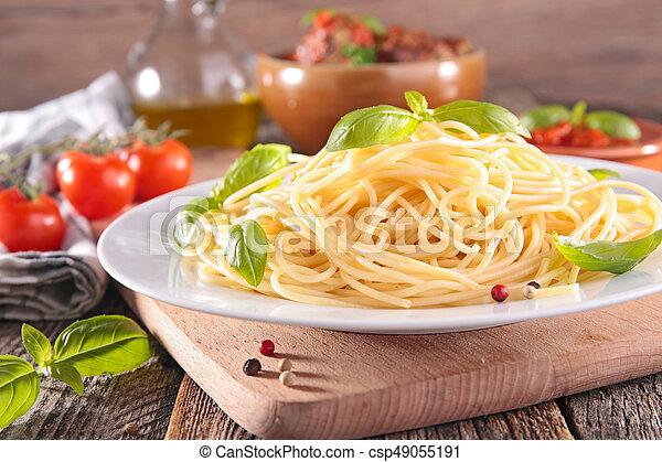 plate of spaghetti - csp49055191