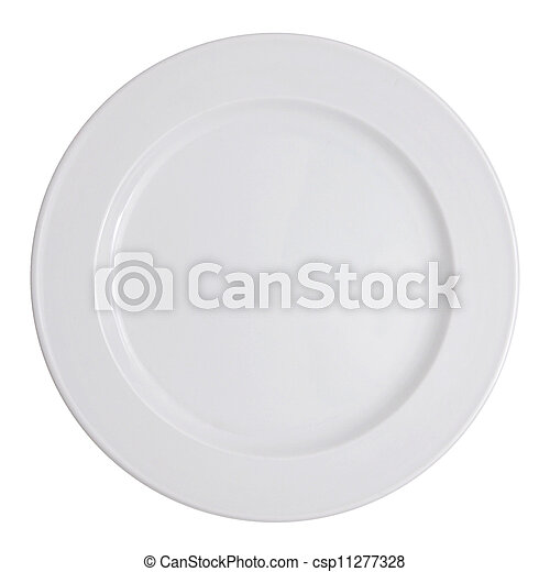 Plate on white background - csp11277328