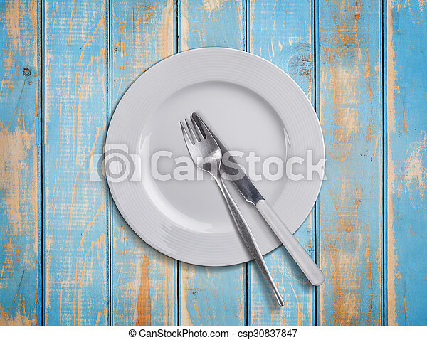 Plate with cutlery - csp30837847