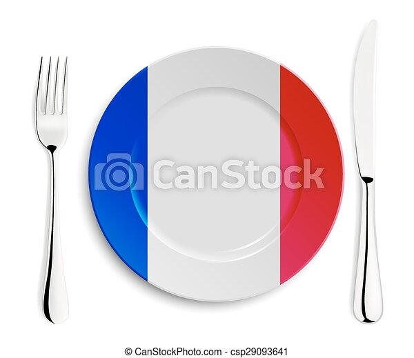 Plate with flag of France - csp29093641