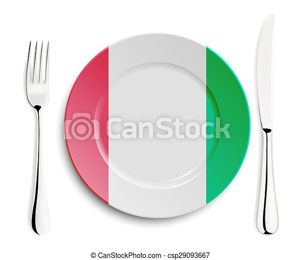 Plate with flag of Italy - csp29093667