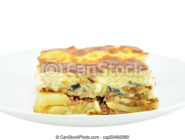 Plate with piece of mousaka - csp50492090