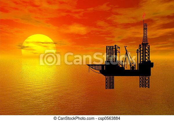 platfor, oil-drilling - csp0563884