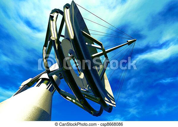 Un plato satelital - csp8668086
