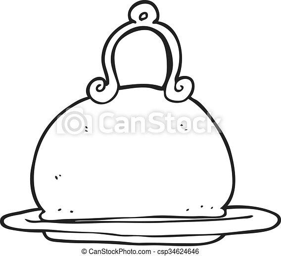 plato de comida en blanco