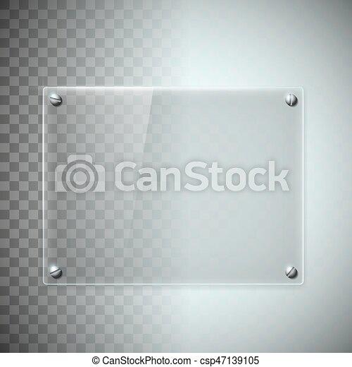 Plato material pl stico vidrio textura blanco transparente plato illustration - Vidrio plastico transparente precio ...