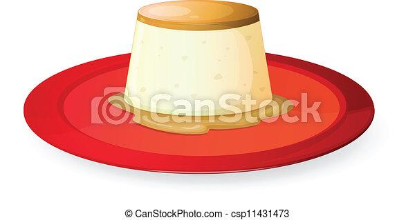 Pudding in rojo - csp11431473