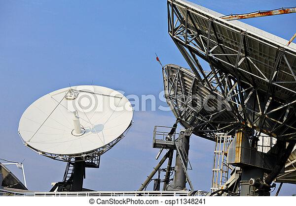 Un plato satelital - csp11348241
