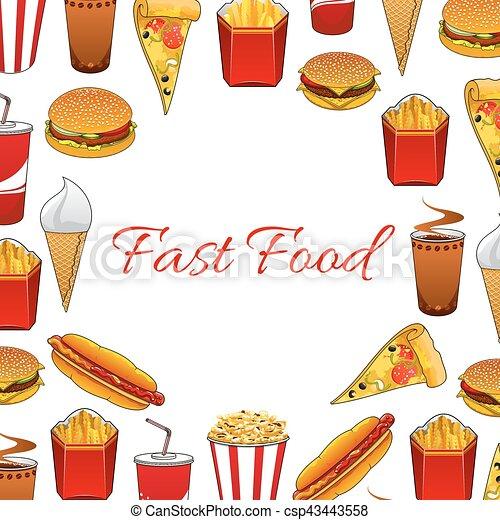 Platos alimento cartel r pido comida para llevar - Platos para llevar al trabajo ...